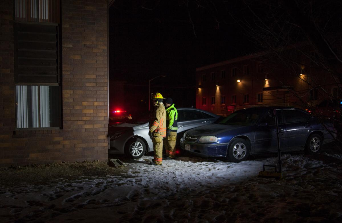 Gunshot wound pursuit, cars through apartment