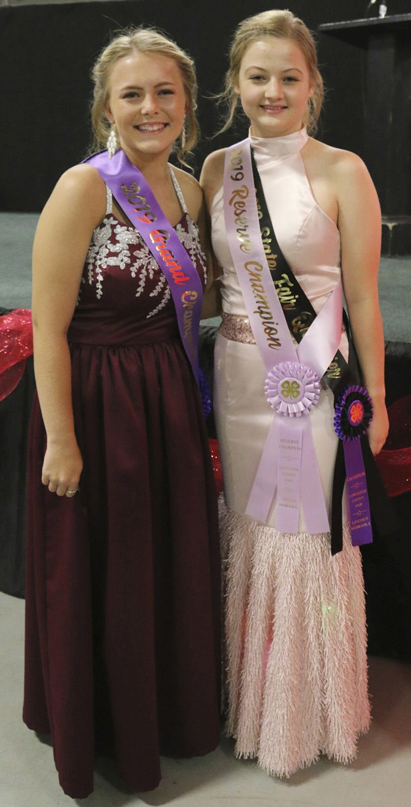 4-H Fashion Show champions Kali Burnham and Eliana Babcock