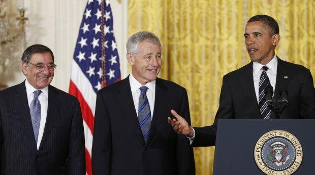 Barack Obama, Leon Panetta, Chuck Hagel