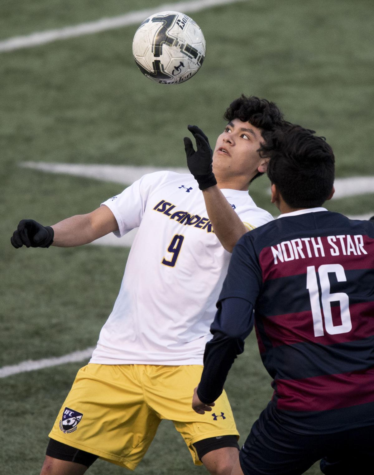 Lincoln North Star vs. Grand Island, HAC boys soccer, 4/4