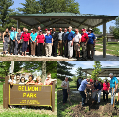 'Streets Alive' Belmont Park project ribbon cutting collage