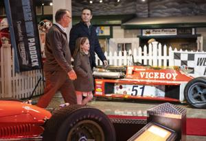 NASCAR star Jimmie Johnson celebrates opening of new display at Museum of American Speed in Lincoln.
