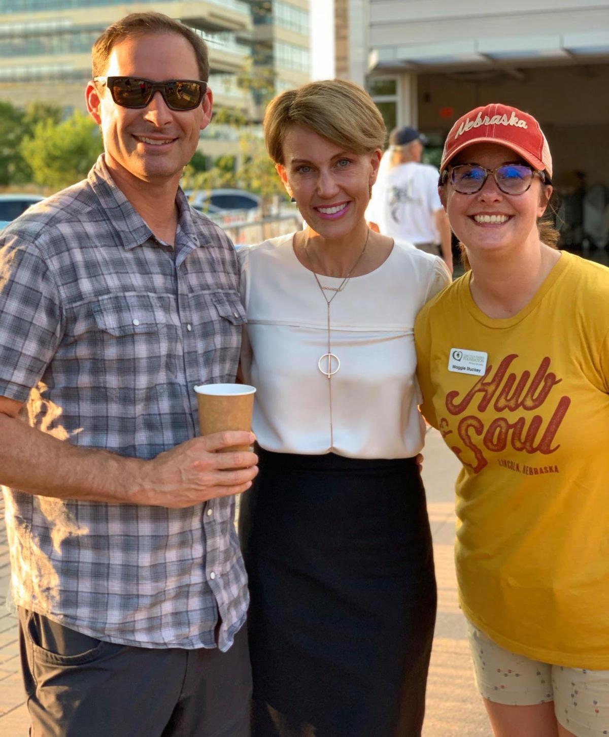 Scott Baird, Mayor Leirion Gaylor Baird, Maggie Stuckey