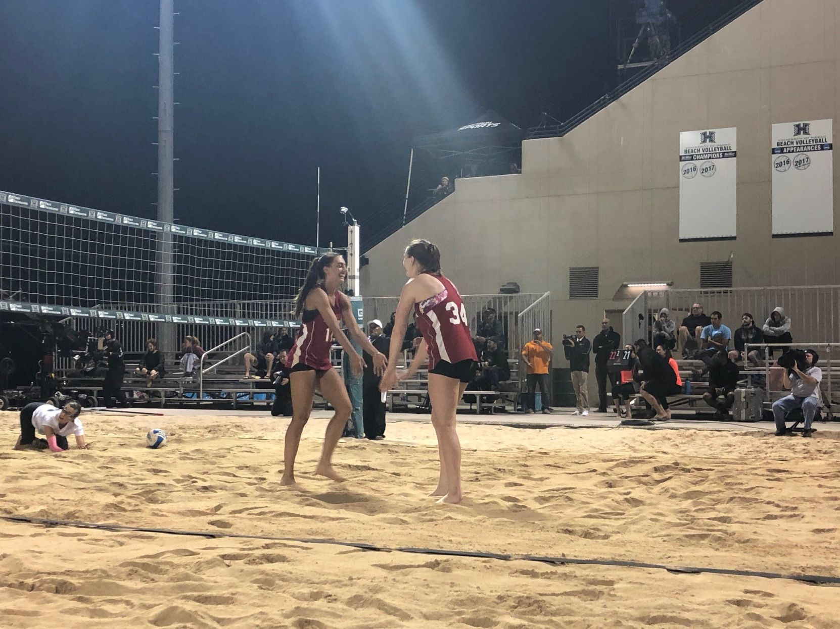 NU Hawaii beach volleyball 3 Albrecht Maloney have