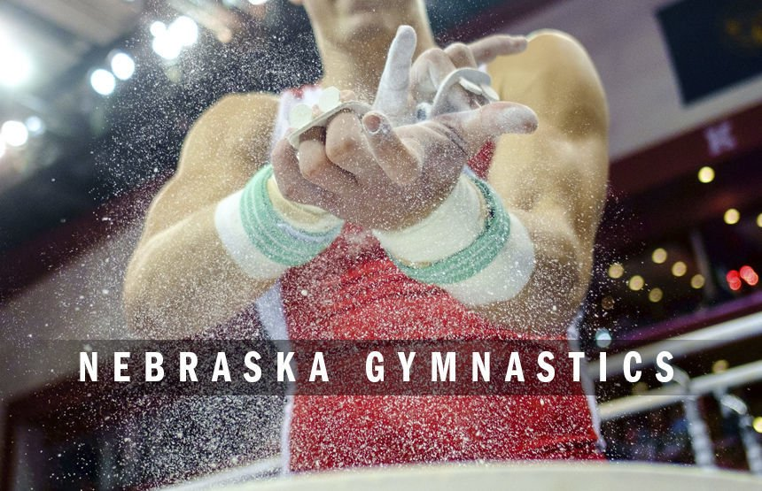 Nebraska men's gymnastics logo