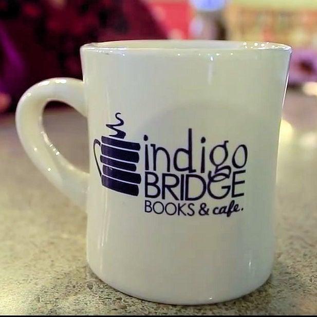 Indigo Bridge coffee cup