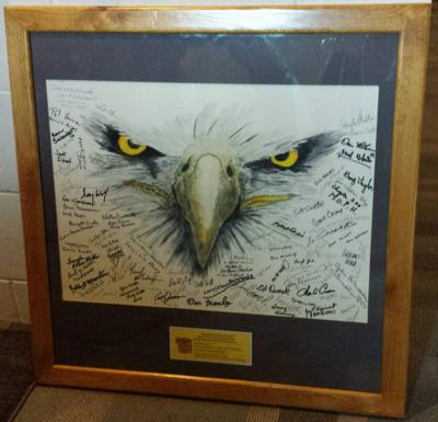 Eagle painting missing from VA Auditorium is found