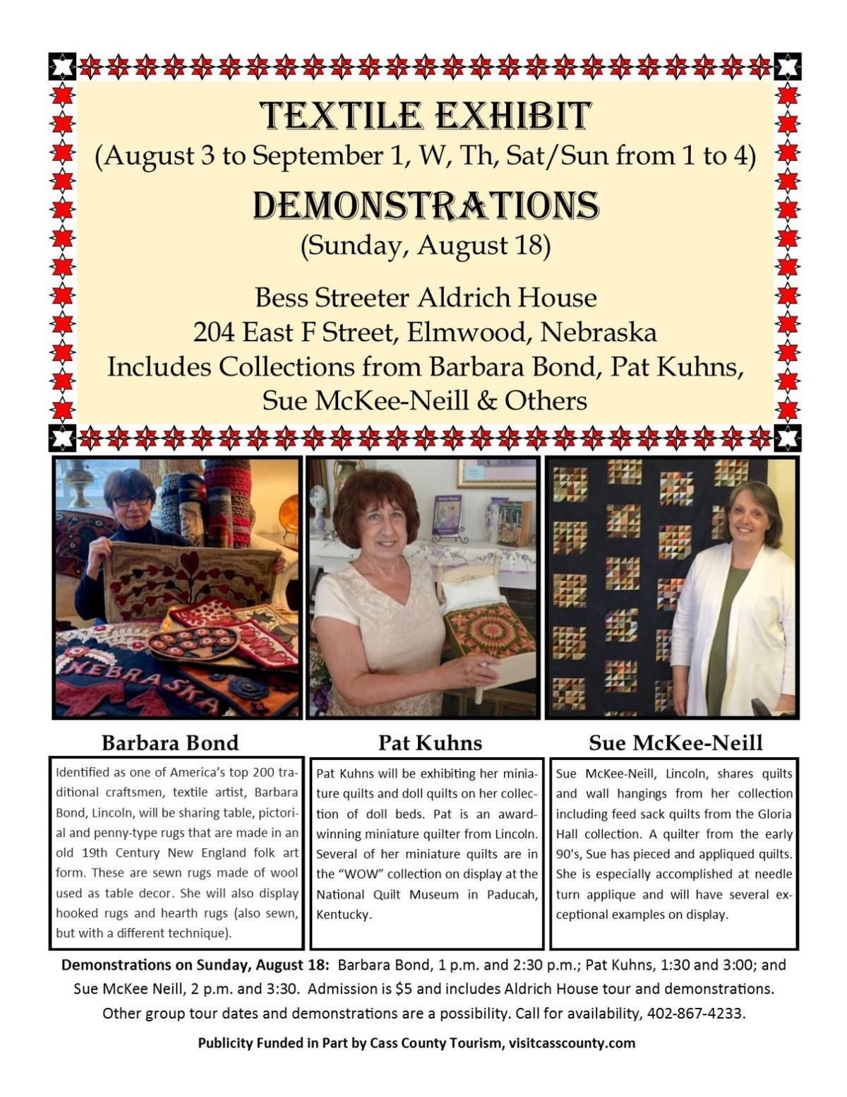 Textile Exhibit and Demonstrations