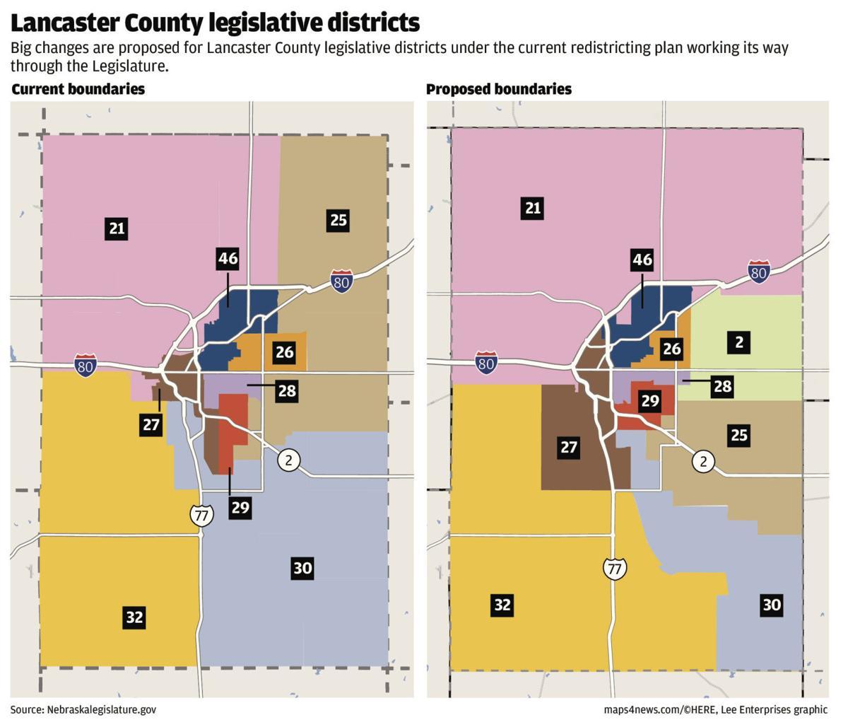 Lincoln/Lancaster County legislative districts