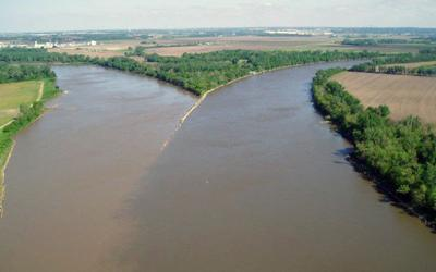 The mouth of the Platte