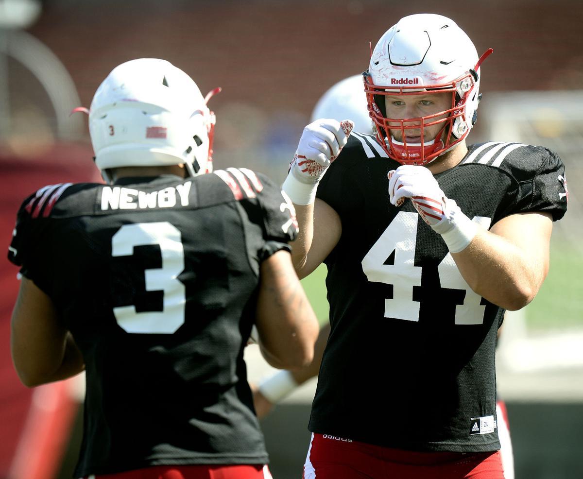 Nebraska football practice, 8/29/17