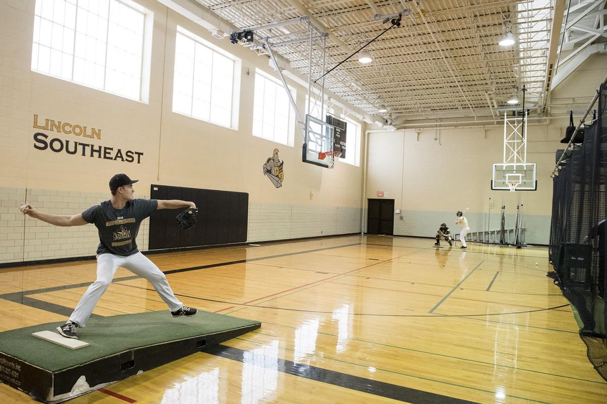 Indoor spring sports practice
