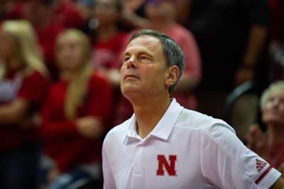 Husker volleyball head coach John Cook