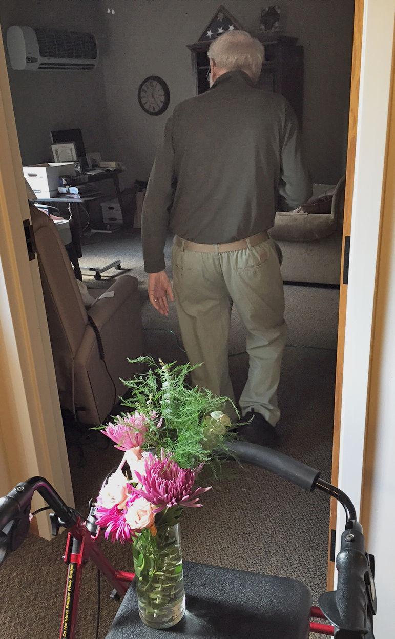 Cindy Lange Kubick Arranging Flowers At The Hospice