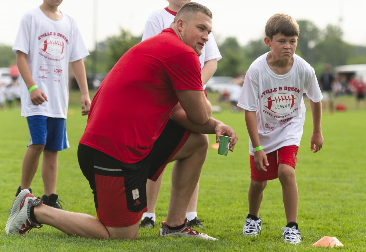 Stille and Domann youth football camp, 7.17