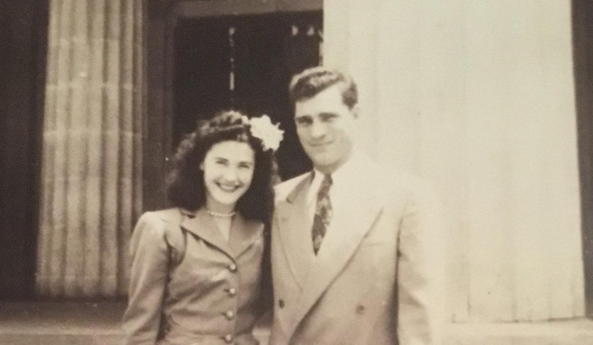 Val and Elizabeth Heim on Wedding Day, 1948