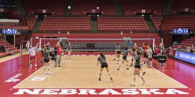 Nebraska volleyball, NCAA Tournament practice, 11/30/17