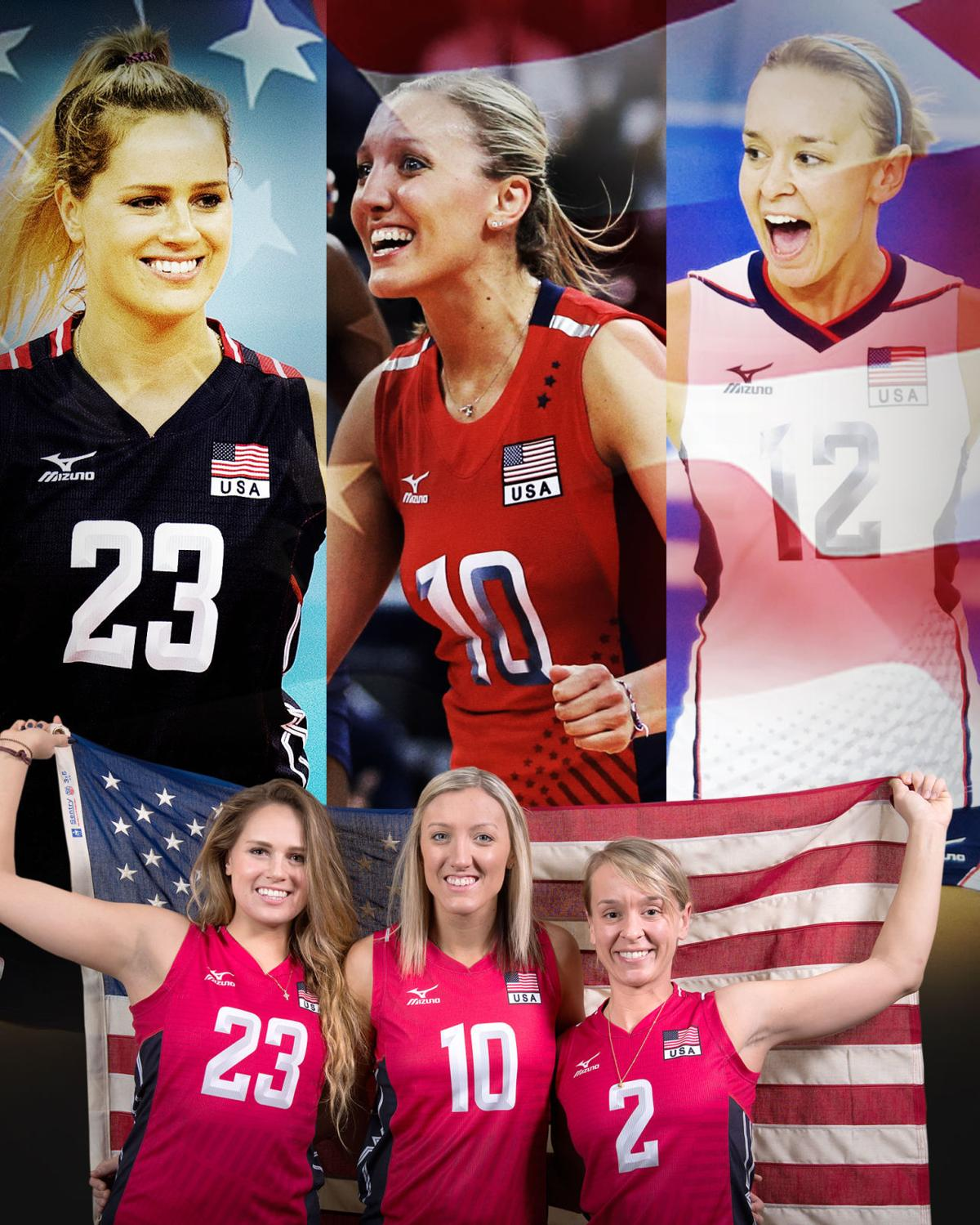 Former Husker volleyball players
