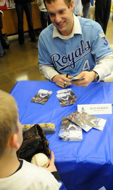 Alex Gordon at a signing