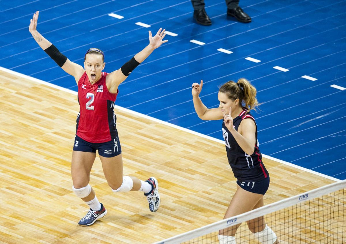 Photos: USA vs  Dominican Republic, NORCECA volleyball
