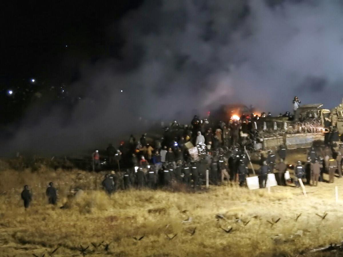 Oil Pipeline Protester Injury