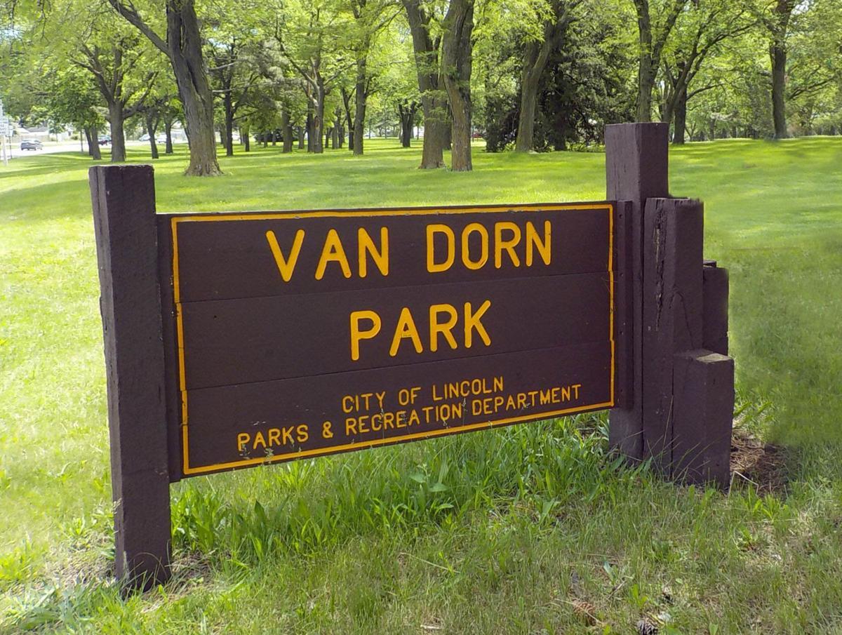 Van Dorn park sign