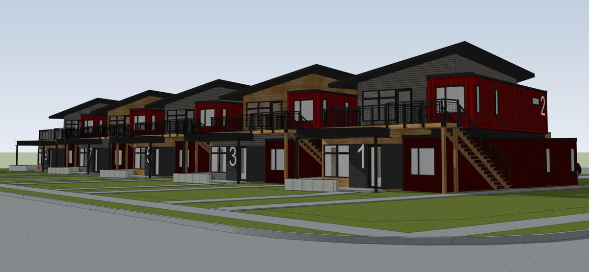 Container housing still coming to Lincoln, but slightly