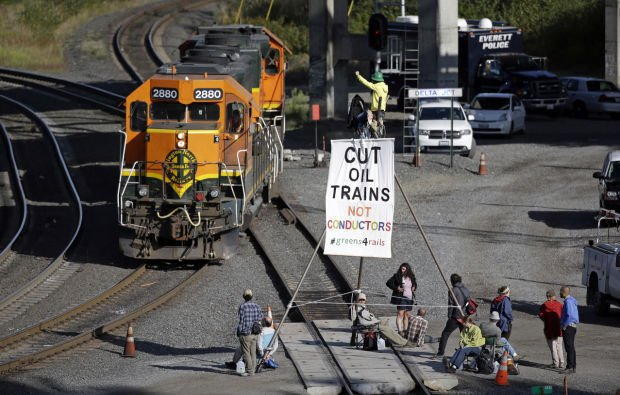 Everett Train Protest
