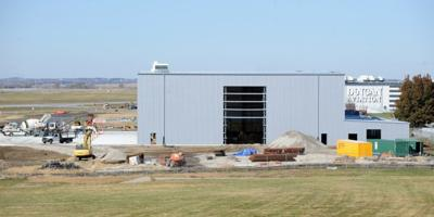 Duncan Aviation's paint hangar under construction