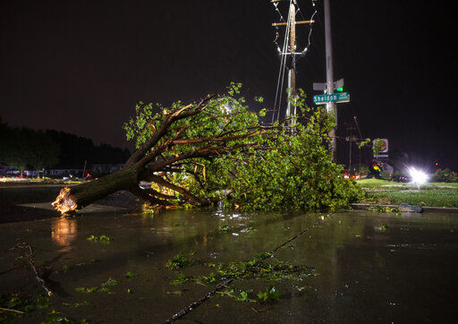 Likely tornado, high winds slam South Dakota's largest city
