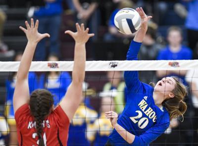 State volleyball, Wahoo vs. Norfolk Catholic, 11.7