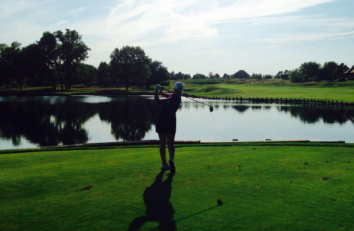 Emma Mabry on 18th tee at Firethorn