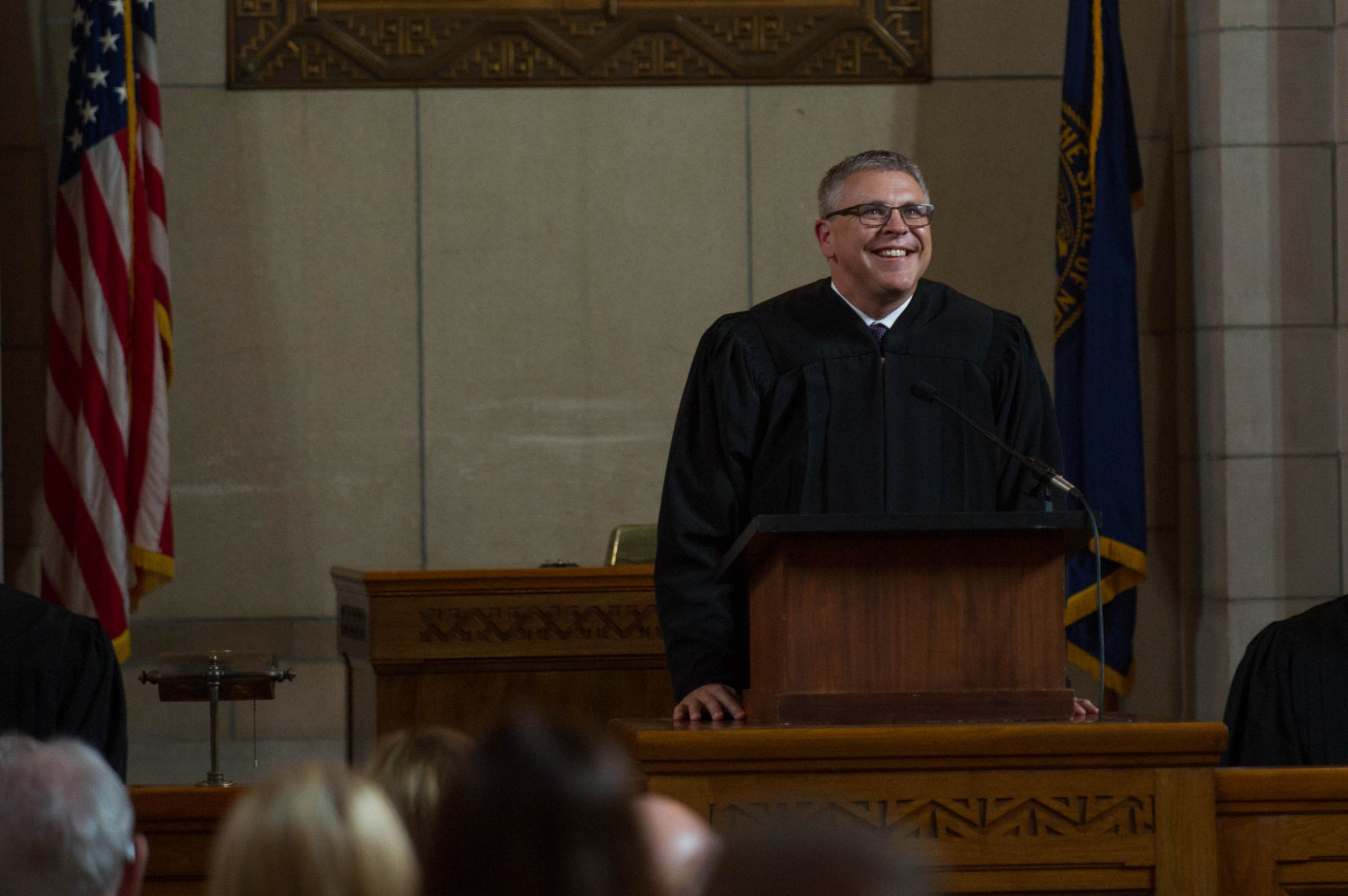 Newest Nebraska Supreme Court Justice Freudenberg enrobed by family | Journal Star