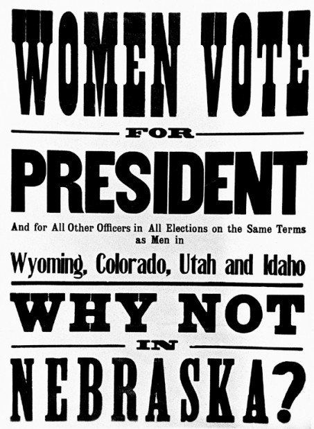 w suffrage was a long fought battle in nebraska misc w suffrage was a long fought battle in nebraska