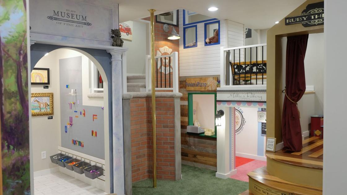 Fun from top to bottom: A three-story playhouse in Bennington is a grandkid's dream