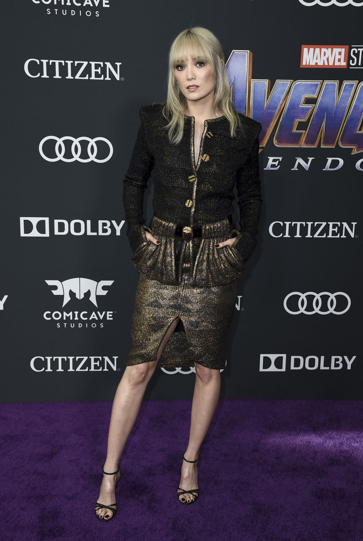 ffc0b514ab82 Photos  Stars arrive on the red carpet at the  Avengers  End Game  premiere
