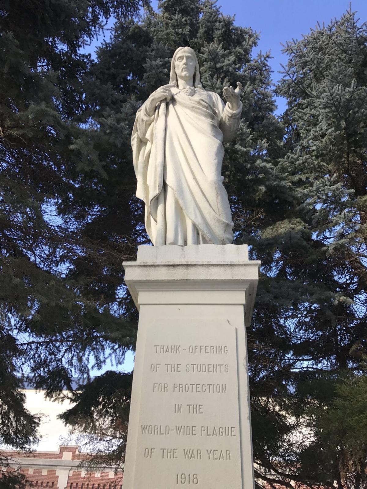 Creighton statue