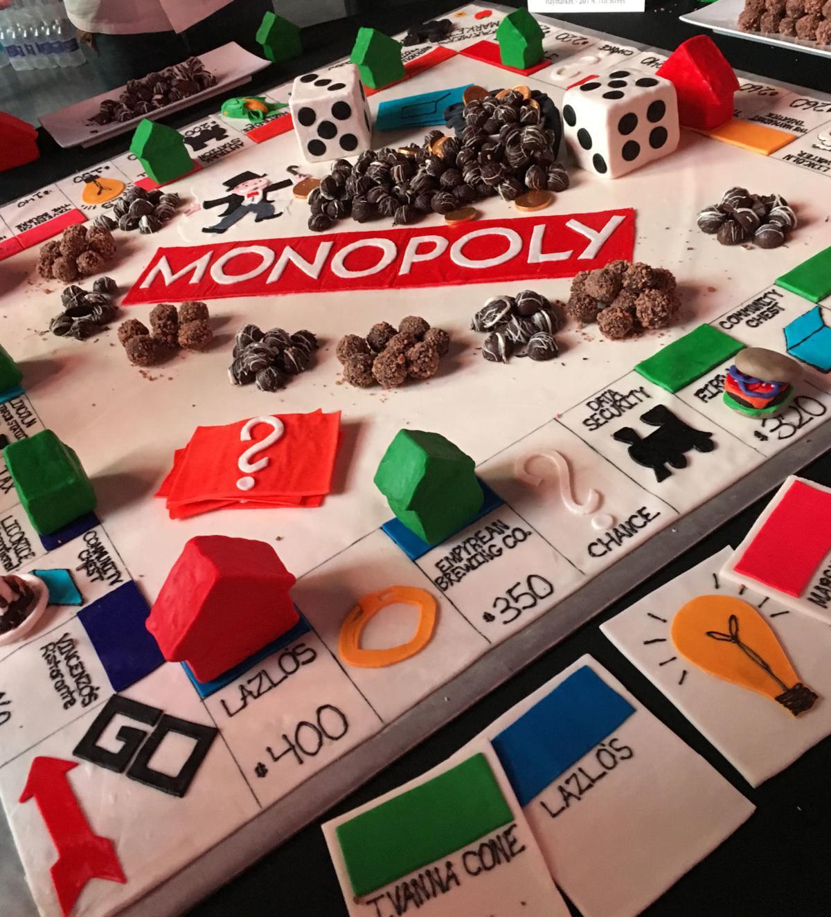 Lazlo's Monopoly board