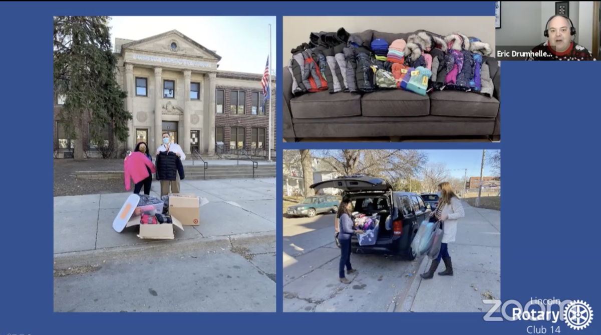 Everett Elementary coats distribution on Zoom