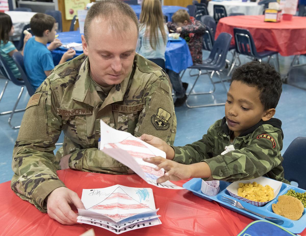 Veterans Day school lunch