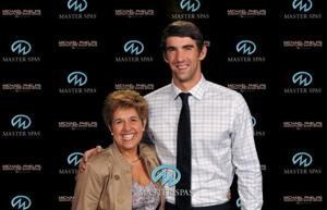 Spa Lady with Michael Phelps