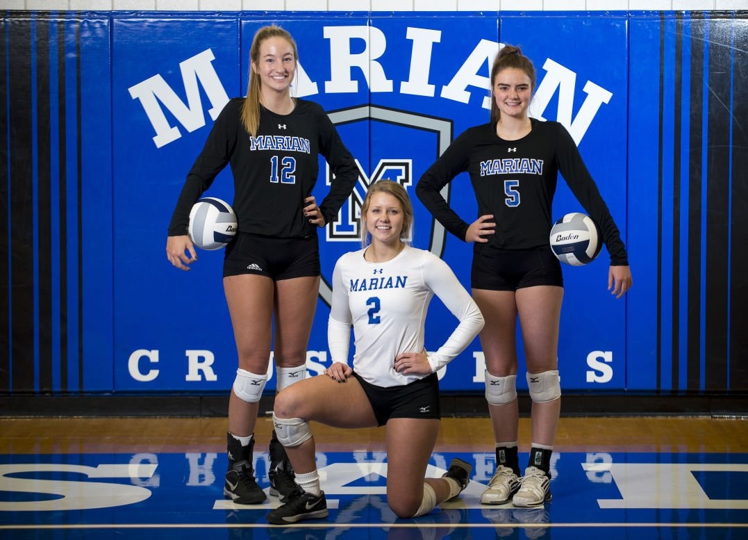 State Volleyball Marian Coach Can Relate To Crusaders