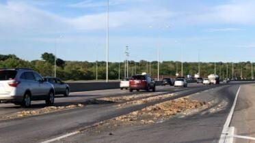 Stretch of I-80 in Omaha gets a little slick because of animal guts