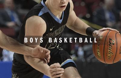 High school boys basketball logo 2