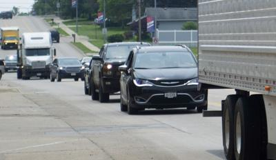 Missouri River floodwaters reroute traffic through Auburn, 5.31