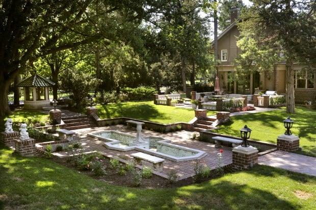 Garden tour: Landscape part of landmark home's restoration - Garden Tour: Landscape Part Of Landmark Home's Restoration Home