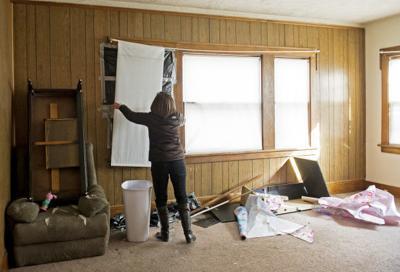 Trashed rental property