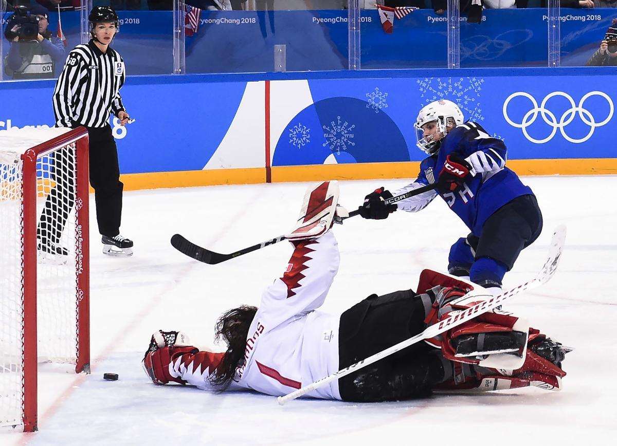 U.S.A. vs. Canada, women's Olympics ice hockey