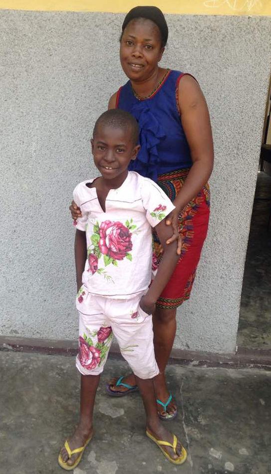 Amina Mundele with son Parvodie