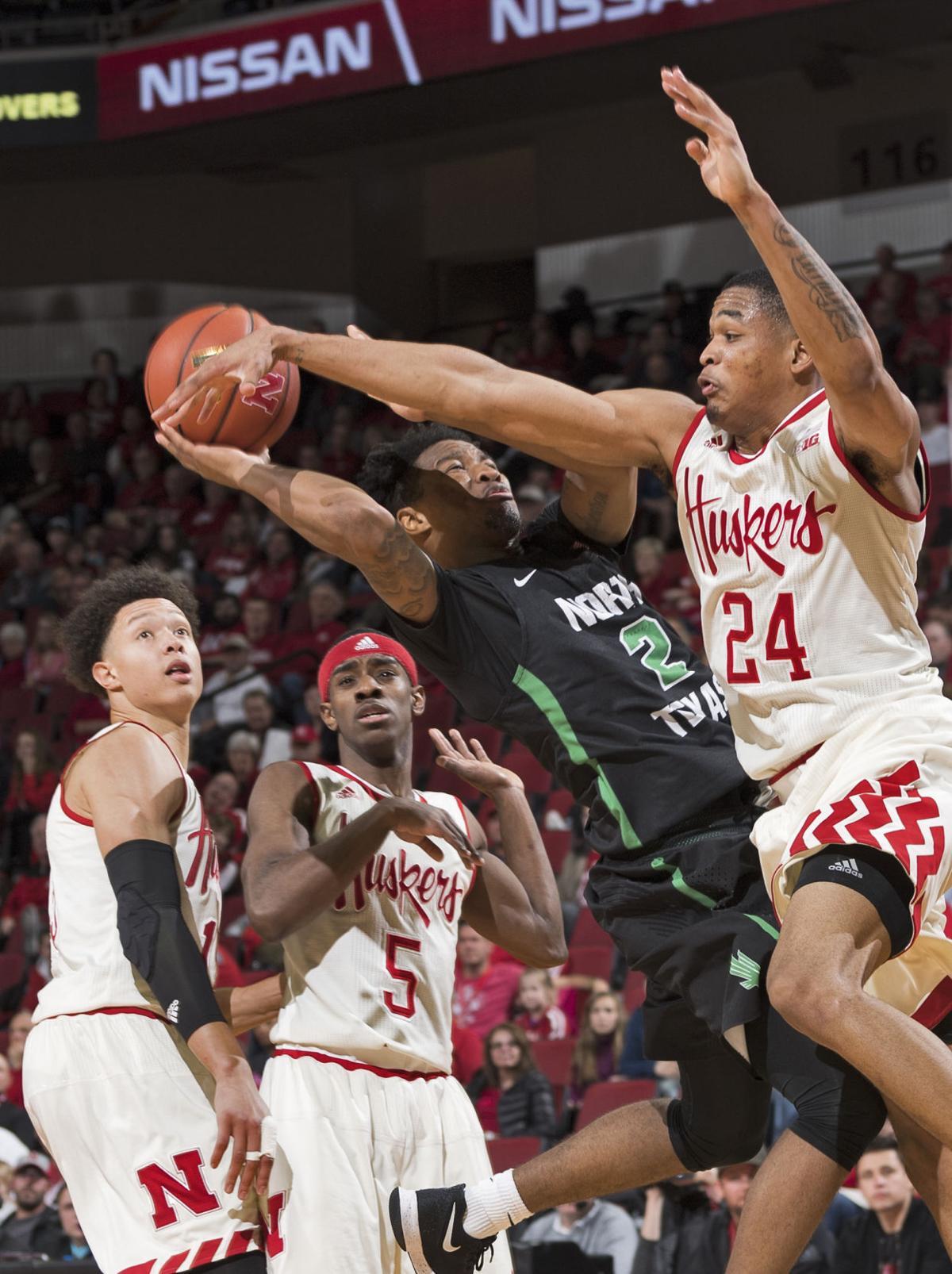 North Texas vs. Nebraska basketball, 11/13/17